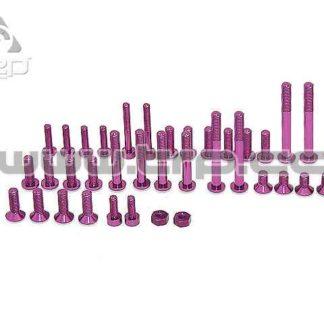 KO Propo Tornilleria completa EX-1 KIY Aluminio Purpura
