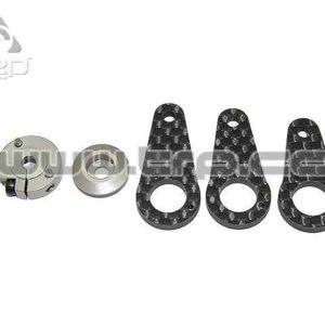 KO Propo Servo Horn en carbono y aluminio (3 medidas)