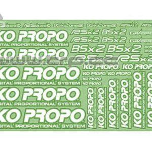 Adhesivo KOPROPO transferible precortado Verde
